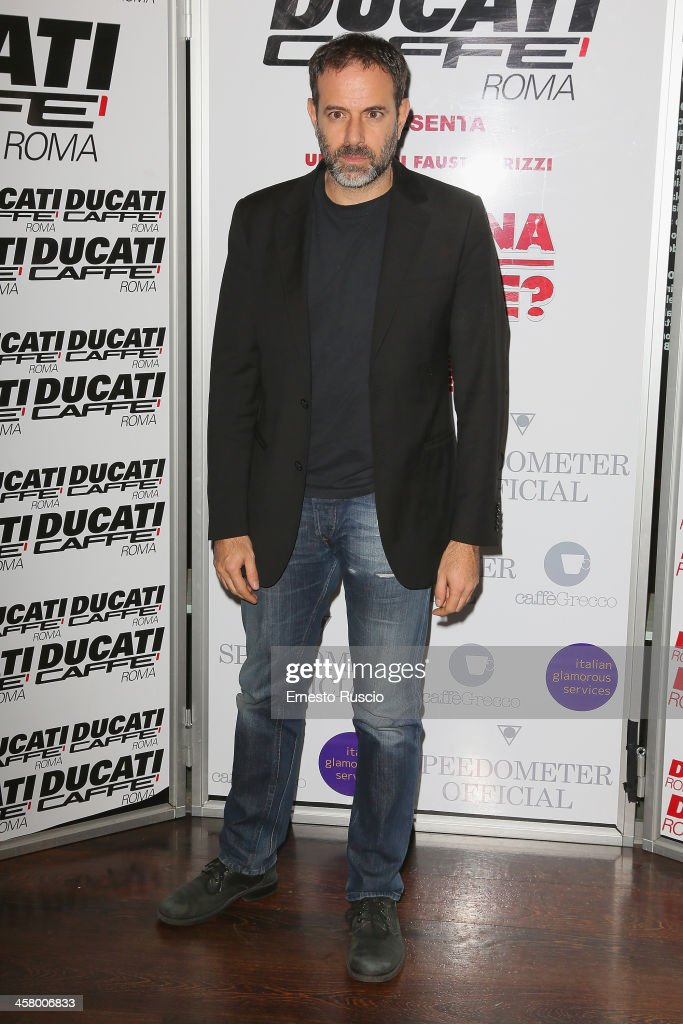Fausto Brizzi attends the 'Indovina Chi Viene A Natale' party at Ducati Caffe on December 19, 2013 in Rome, Italy.