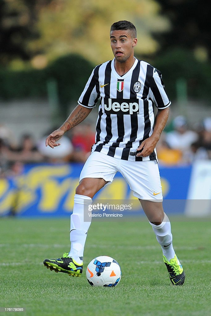 Fausto Rossi of FC Juventus in action during the pre-season friendly match between FC Juventus A and FC Juventus B on August 11, 2013 in Villar Perosa near Pinerolo, Italy.