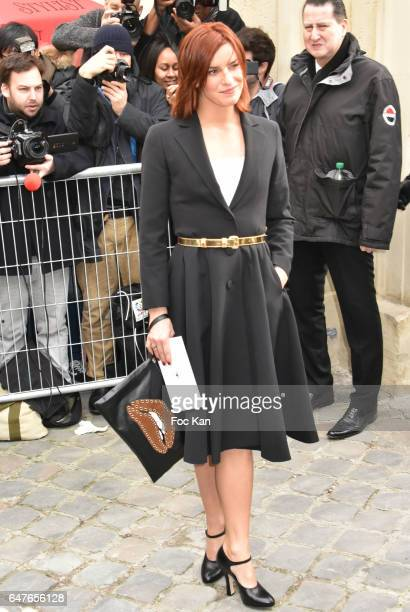 Fauve Hautot attends the Christian Dior show as part of the Paris Fashion Week Womenswear Fall/Winter 2017/2018 on March 3 2017 in Paris France