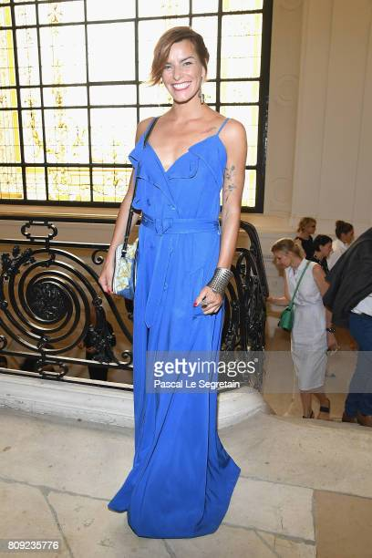 Fauve Hautot attends the Jean Paul Gaultier Haute Couture Fall/Winter 20172018 show as part of Haute Couture Paris Fashion Week on July 5 2017 in...
