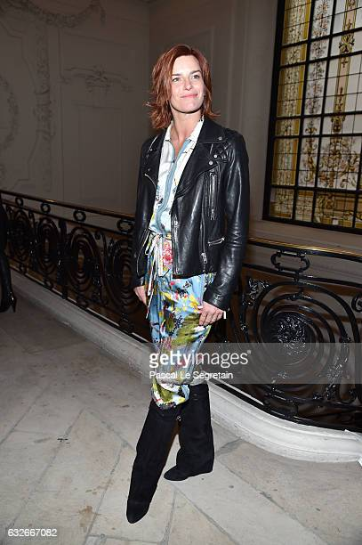 Fauve Hautot attends the Jean Paul Gaultier Haute Couture Spring Summer 2017 show as part of Paris Fashion Week on January 25 2017 in Paris France
