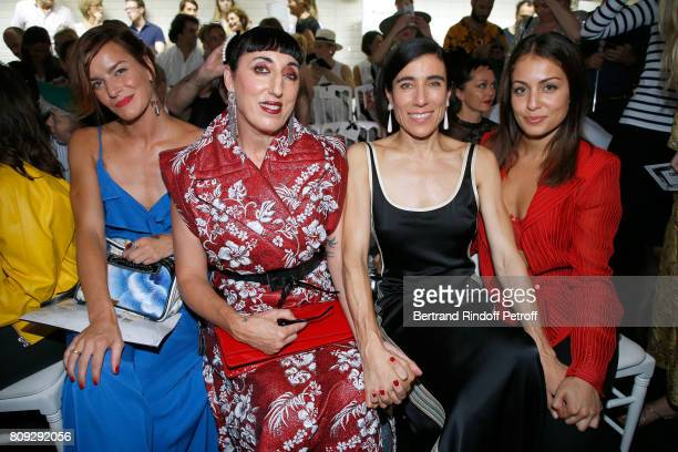 Fauve Hautot Rossy de Palma Blanca Li and Hiba Abouk attend the Jean Paul Gaultier Haute Couture Fall/Winter 20172018 show as part of Haute Couture...