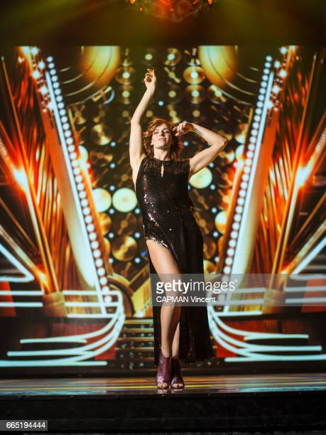 Fauve Hautot the star dancer of the musical Saturday Night Fever on march 16 2017 in Paris France