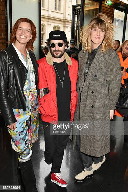 Fauve HautotGunther LoveDaphne Burki attend the Jean Paul Gaultier Haute Couture Spring Summer 2017 show as part of Paris Fashion Week on January 25...