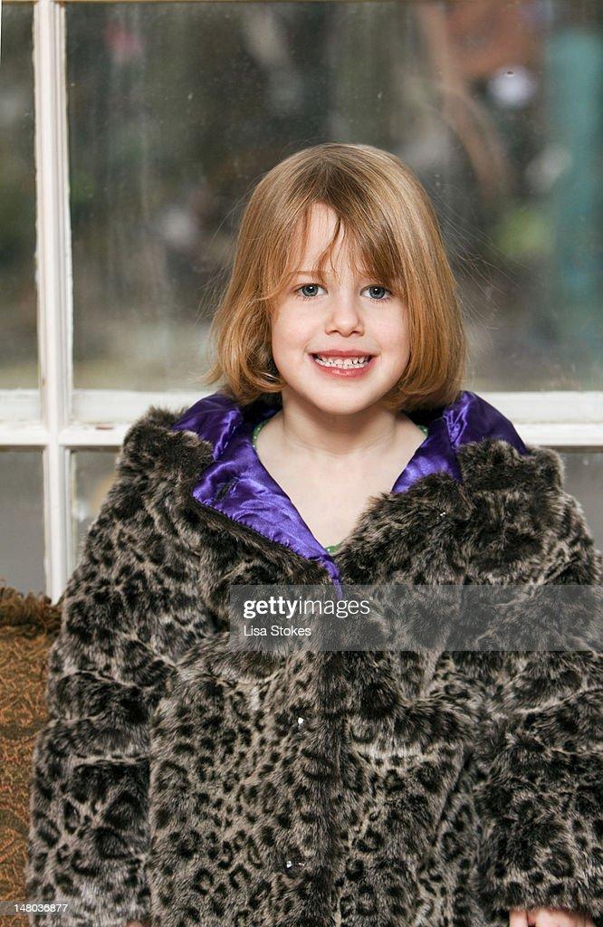 Faux fur coat : Stock Photo