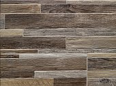Faux wood wall for home interiors. Rustic style, background and texture .