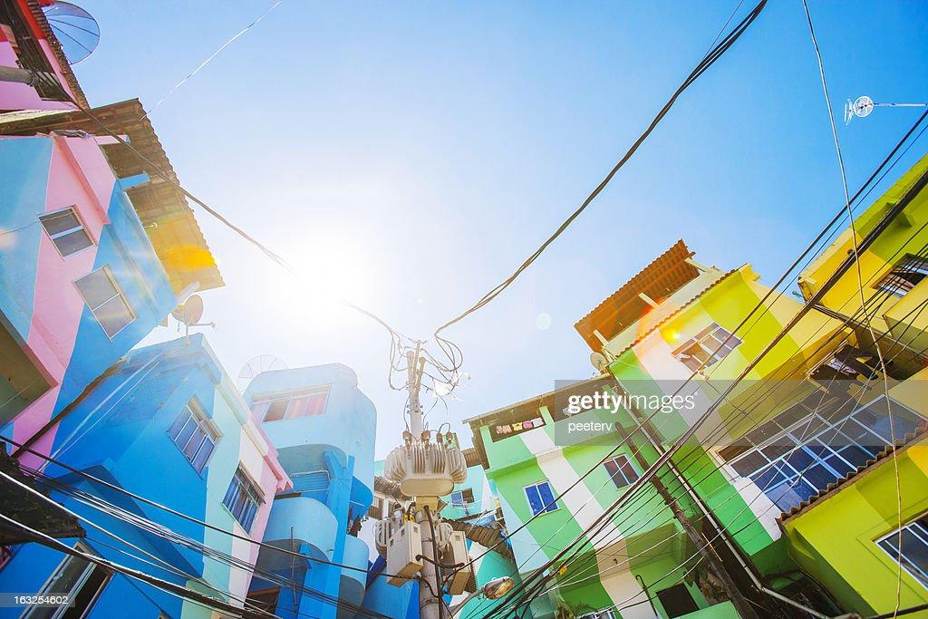 Favela buildings.