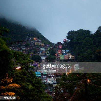 Favela Santa Marta in the Botafogo area of Rio de Janeiro.