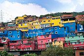 Favela suburb of Caracas city