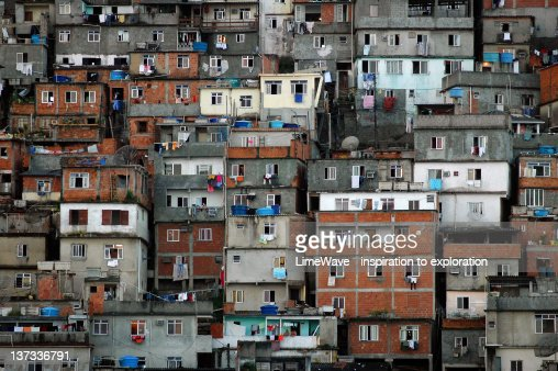Favelas in central Rio de Janeiro