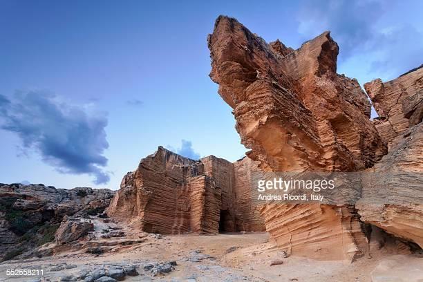 Favignana giant tuff cliffs