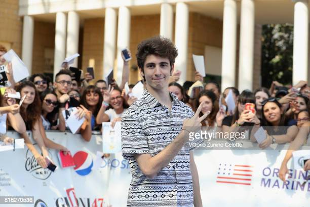 Favij attends Giffoni Film Festival 2017 Day 5 Blue Carpet on July 18 2017 in Giffoni Valle Piana Italy