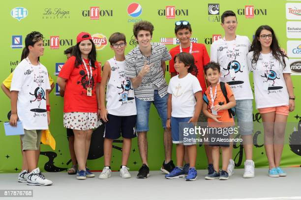 Favij attends Giffoni Film Festival 2017 Day 5 Photocall on July 18 2017 in Giffoni Valle Piana Italy