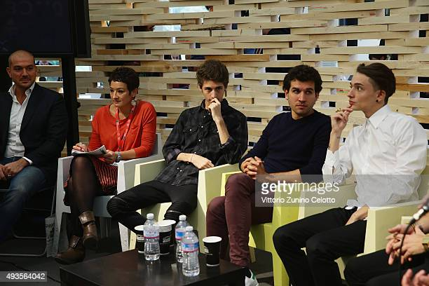 Favij Federico Clapis Zoda and Leonardo De Carli attend a press conference for 'Game Therapy' during the 10th Rome Film Fest on October 21 2015 in...
