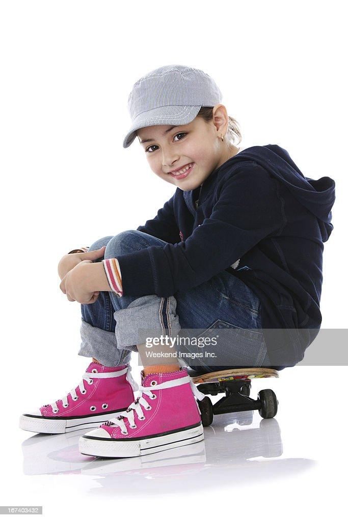 Favorite skateboard : Stock Photo
