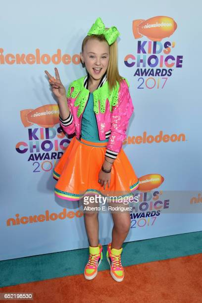 Favorite Viral Music Artist Nominee JoJo Siwa at Nickelodeon's 2017 Kids' Choice Awards at USC Galen Center on March 11 2017 in Los Angeles California