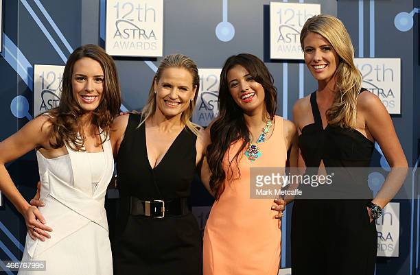 Favourite Female Personality nominees Laura Jayes Shaynna Blaze Naomi Sequeira and Lara Pitt pose during a media call ahead of the 12th Annual ASTRA...