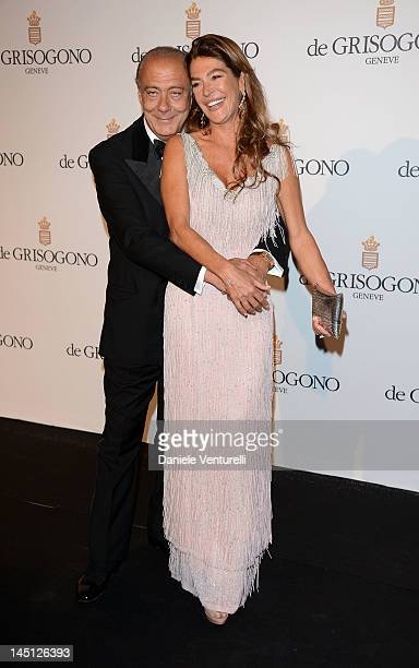 Fawaz Gruosi and Fiona Swarovski attend the de Grisogono Party during the 65th Annual Cannes Film Festival at Hotel Du Cap on May 23 2012 in Antibes...