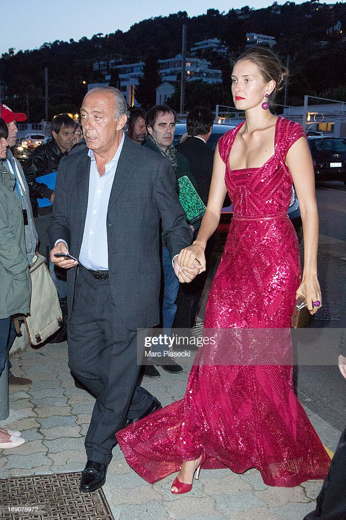 Fawaz Gruosi and guest arrive to attend the 'Vanity Fair Chanel' dinner at 'Tetou' restaurant during the 66th Annual Cannes Film Festival on May 19, 2013 in Le Golfe Juan, France.