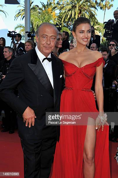 Fawaz Gruosi and Irina Shayk attend the 'Killing Them Softly' Premiere during 65th Annual Cannes Film Festival at Palais des Festivals on May 22 2012...
