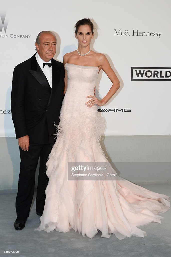 Fawaz Gruosi and Izabel Goulart at the amfAR's 21st Cinema Against AIDS Gala at Hotel du Cap-Eden-Roc during the 67th Cannes Film Festival