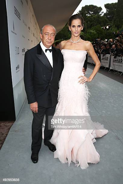 Fawaz Gruosi and Izabel Goulart attend amfAR's 21st Cinema Against AIDS Gala Presented By WORLDVIEW BOLD FILMS And BVLGARI at Hotel du CapEdenRoc on...