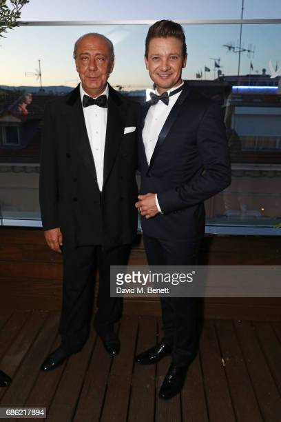 Fawaz Gruosi and Jeremy Renner attend The Weinstein Company prereception of 'Wind River' in association with Grey Goose Vodka de Grisogono and Hotel...