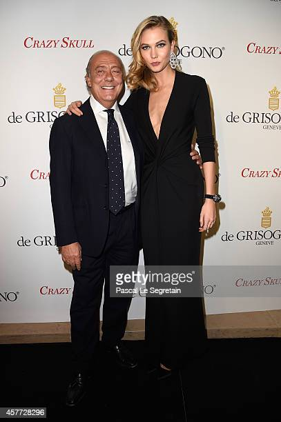 Fawaz Gruosi and Karlie Kloss attend the launch of the De Grisogono 'Crazy Skull' watch on October 23 2014 in Paris France