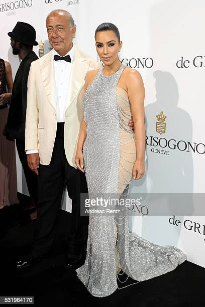 Fawaz Gruosi and Kim Kardashian attend the De Grisogono Party at the annual 69th Cannes Film Festival at Hotel du CapEdenRoc on May 17 2016 in Cap...