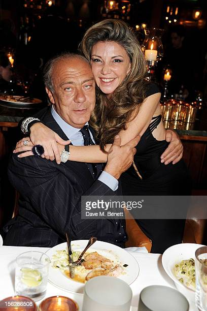 Fawaz Gruosi and Lisa Tchenguiz attend the de Grisogono private dinner at 17 Berkeley St on November 12 2012 in London England