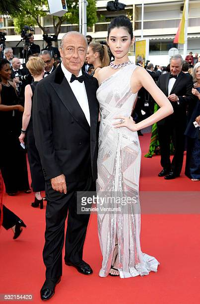 Fawaz Gruosi and Ming Xi attend 'The Unknown Girl ' Premiere during the 69th annual Cannes Film Festival at the Palais des Festivals on May 18 2016...