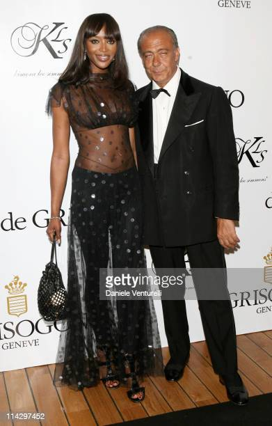 Fawaz Gruosi and Naomi Campbell during 2007 Cannes Film Festival de Grisogono Party at Hotel du Cap in Cannes France