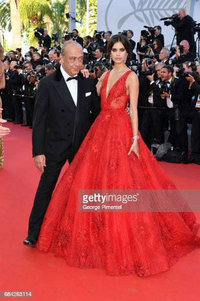 Fawaz Gruosi and Sara Sampaio attend the 'Ismael's Ghosts ' screening and Opening Gala during the 70th annual Cannes Film Festival at Palais des...
