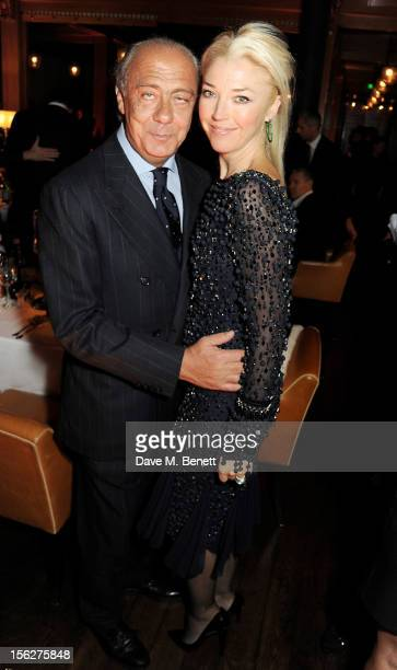 Fawaz Gruosi and Tamara Beckwith attend the de Grisogono private dinner at 17 Berkeley St on November 12 2012 in London England