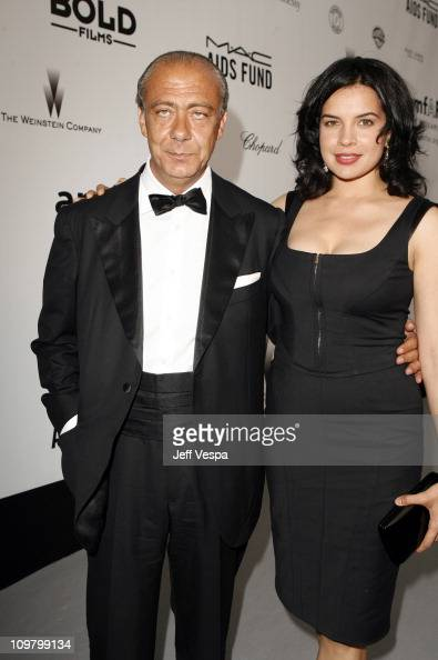 Fawaz Gruosi President of de Grisogono and Zuleikha Robinson at amfAR's Cinema Against AIDS event presented by Bold Films the M*A*C AIDS Fund and The...