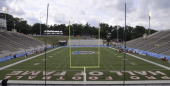Fawcett Stadium in Canton Ohio the site of the annual Pro Football Hall of Fame Game sits empty before the 2012 Hall of Fame Game between the Arizona...