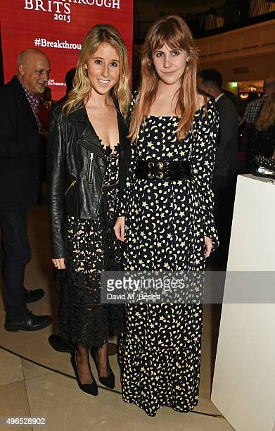 Fawn James and India Rose James attend the BAFTA Breakthrough Brits reception in partnership with Burberry at 121 Regent Street on November 10 2015...