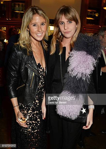 Fawn James and India Rose James attend the press night after party for 'Mrs Henderson Presents' at The National Cafe on February 16 2016 in London...