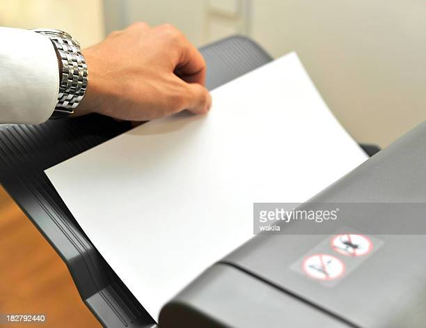 fax and printer in office with hand