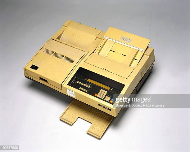 Fax machines transmit text and images to a remote address by scanning areas of light and shade on a page The first fascimile machine was developed...