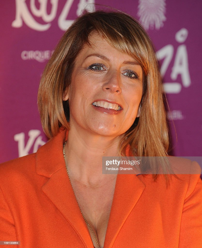 Fay Ripley attends the opening night of Cirque Du Soleil's Kooza at Royal Albert Hall on January 8, 2013 in London, England.