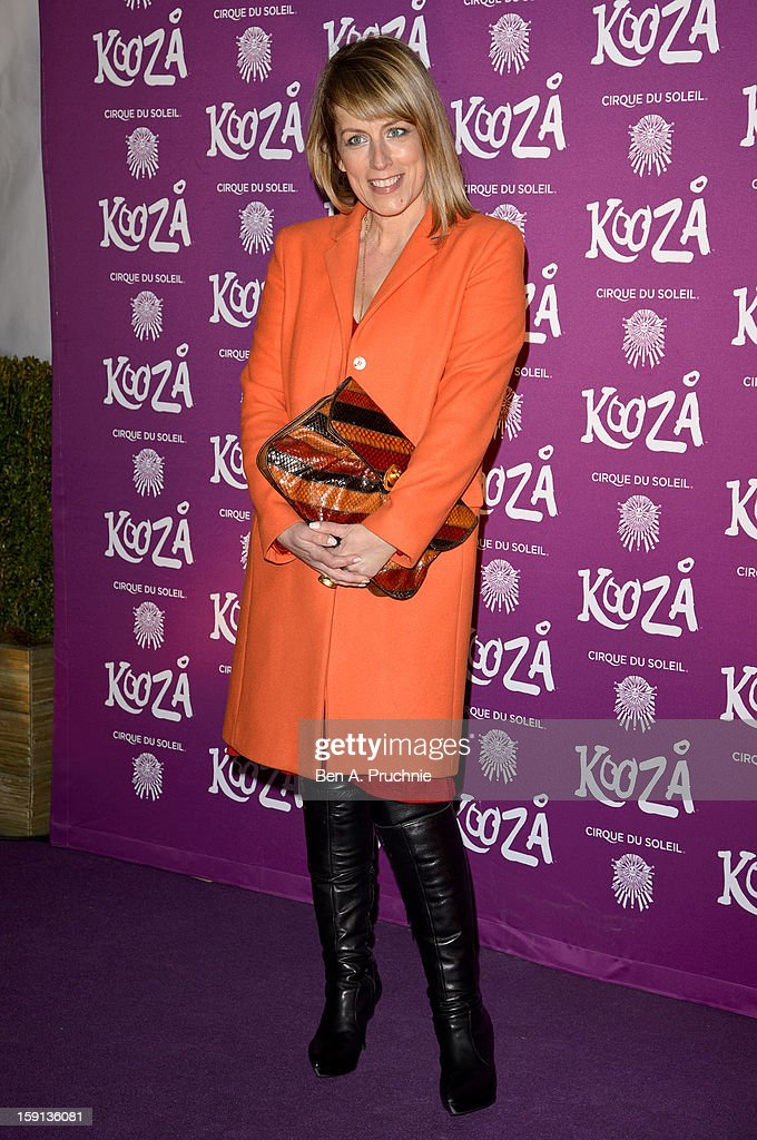 Fay Ripley attends the opening night of Cirque Du Soleil's Kooza at the Royal Albert Hall on January 8, 2013 in London, England.