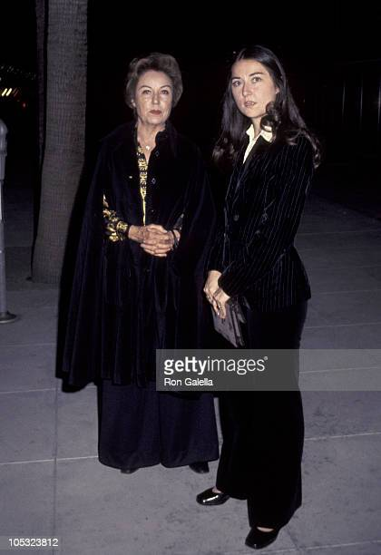 Fay Wray and daughter Susan Riskin during Fay Wray At The Academy Theater at Academy of Motion Pictures Arts Sciences in Beverly Hills California...