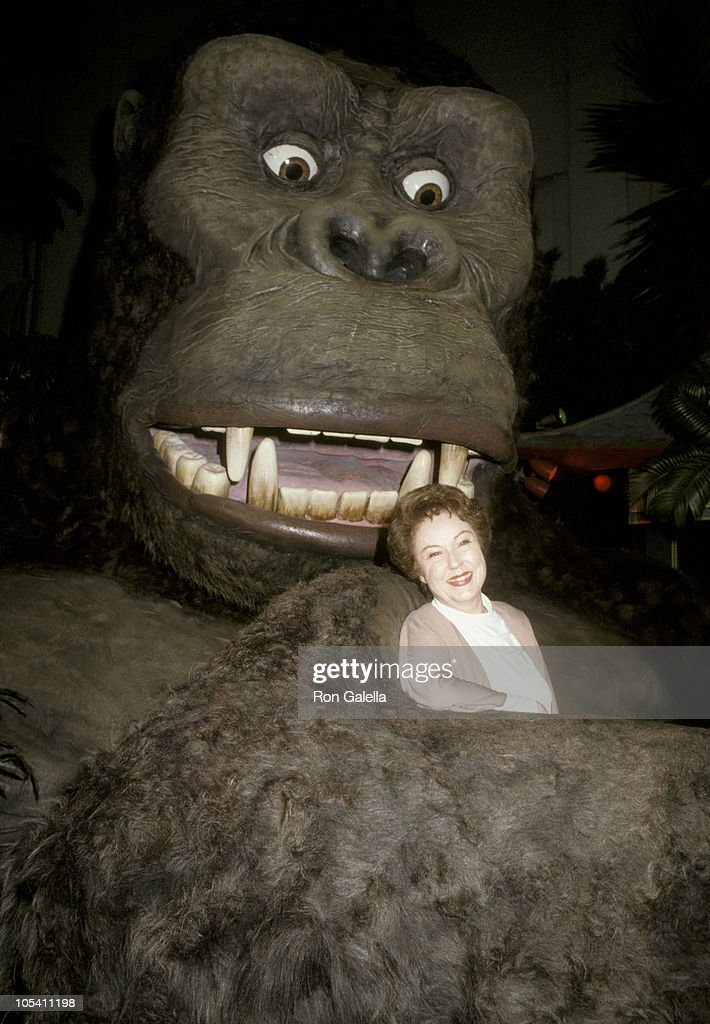 <a gi-track='captionPersonalityLinkClicked' href=/galleries/search?phrase=Fay+Wray&family=editorial&specificpeople=70009 ng-click='$event.stopPropagation()'>Fay Wray</a> and King Kong during 50th Anniversary of 'King Kong' at Mann's Chinese Theater in New York City, New York, United States.