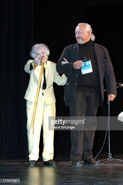 Fay Wray and Rick McKay during The 11th Annual Hamptons International Film Festival A Conversation with Fay Wray Betty Comden and Patricia Neal at...