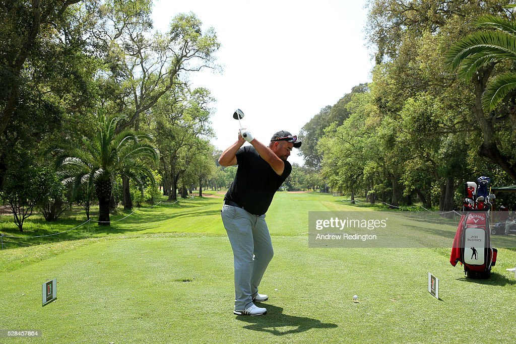 Faycal Serghini of Morocco hits his tee shot on the 1st during the first round of the Trophee Hassan II at Royal Golf Dar Es Salam on May 5, 2016 in Rabat, Morocco.