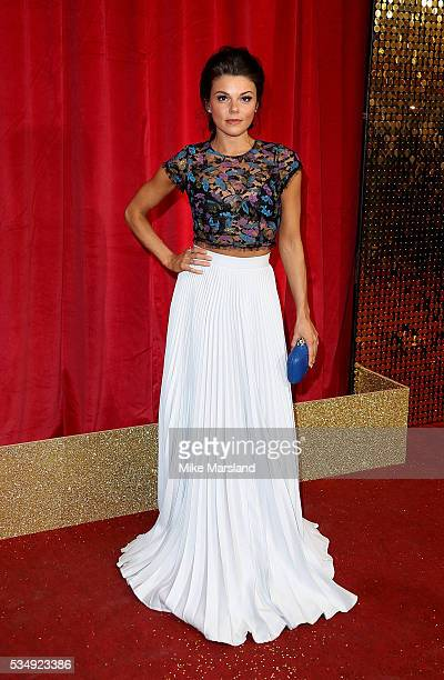 Faye Brooks attends the British Soap Awards 2016 at Hackney Empire on May 28 2016 in London England