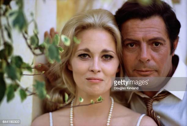 Faye Dunaway and Marcello Mastroianni
