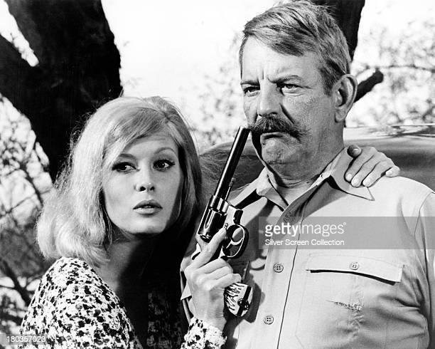 Faye Dunaway as Bonnie Parker and Denver Pyle as Frank Hamer in 'Bonnie And Clyde' directed by Arthur Penn 1967