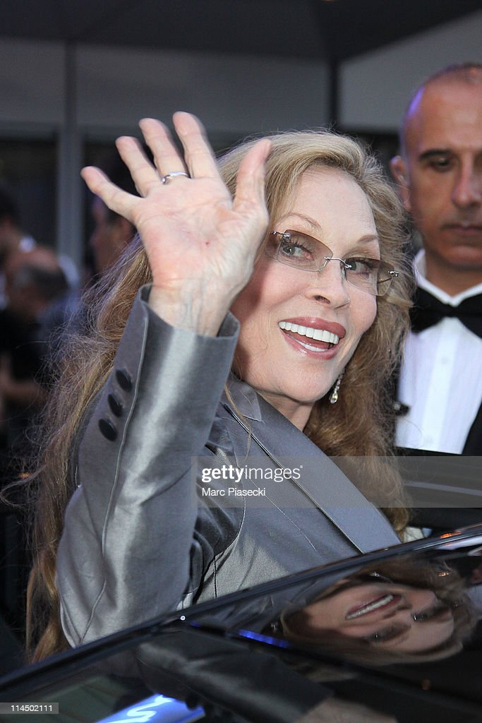 Faye Dunaway is sighting leaving the 'Palais des Festivals' after the 'Palme d'Or' ceremony on May 22, 2011 in Cannes, France.